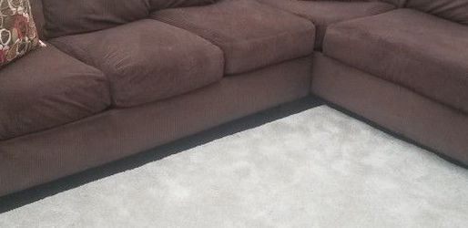 Sectional couch L Shaped Corduroy Excellent Condition for Sale in Granite Falls,  WA