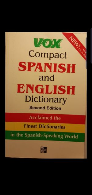 Spanish/English dictionary for Sale in Colton, CA