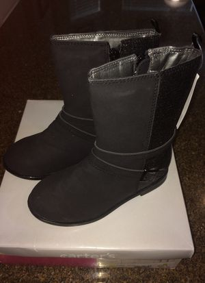 Girls Carters black Boots - size 11 for Sale in Round Rock, TX