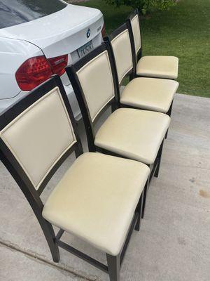Kitchen Table Chairs - Cream/Espresso for Sale in Scottsdale, AZ