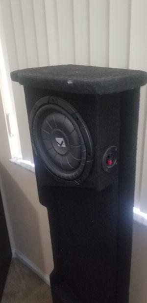 (2) 10 in Subwoofer custom box Silverado 1500 plus 800 w Amp for Sale in Port St. Lucie, FL