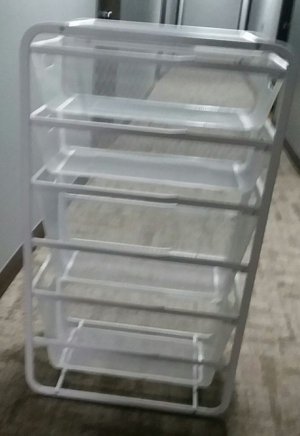 Ikea Algot Frame with Drawers