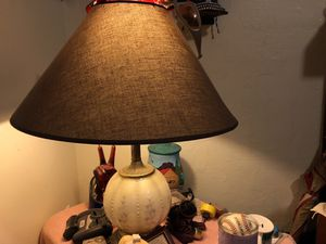 2 matching lamps there old and has a 3 way lighting first click (night light ) 2nd click lamp it self and third click is the lamp it's self and the ( for Sale in Mount Clare, WV