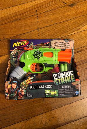 Nerf Zombie Strike Doublestrike Blaster Dart Gun New for Sale in Providence, RI