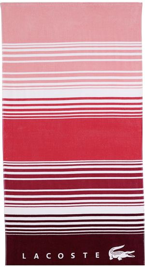 "Lacoste Horizon 100% Cotton Beach Towel, 36"" W x 72"" L, Striped Pink for Sale in Houston, TX"