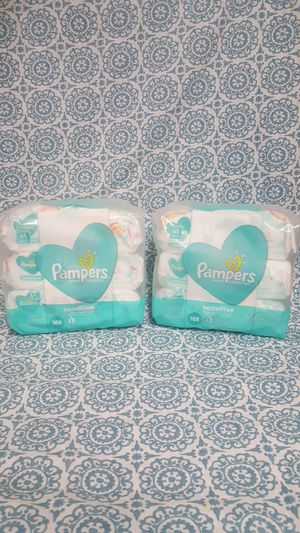 2 packs of 3 pampers baby wipes sensitive perfume free for Sale in Homestead, FL