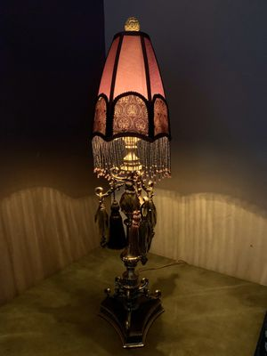Antique Brass and Crystal Table Lamp for Sale in Venetia, PA