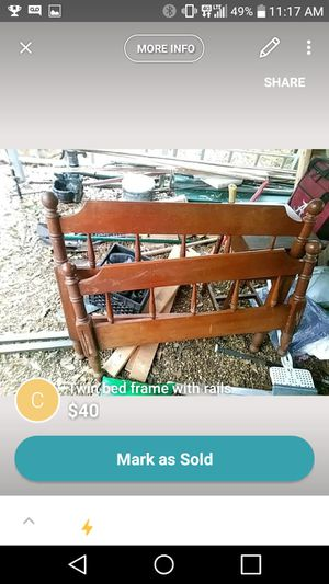 Twin bed frame for Sale in Montgomery, AL