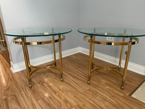 Beautiful Brass End Tables *Perfect Condition* for Sale in Mount Prospect, IL