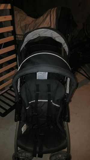 GRACO READY TO GROW LX DOUBLE STROLLER BLACK CLICK ANS CONNECT for Sale in Staten Island, NY
