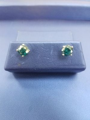 10K White Gold Blue Diamond Earrings 1.65CTW for Sale in Milwaukee, WI