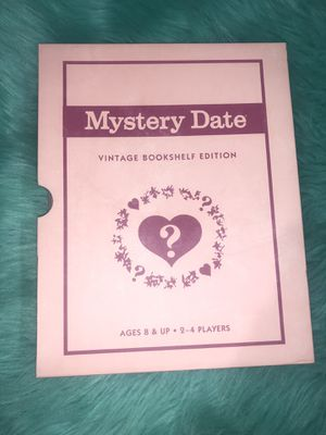 Mystery Date Vintage Bookshelf Edition Deluxe Linen Book Board Dating Game for Sale in Miami, FL