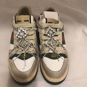 Gucci Distressed Crystal Screener Sneakers for Sale in Beverly Hills, CA