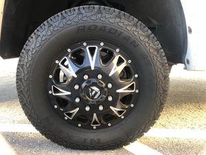 """17"""" FUEL Throttle Black Rims. For dually trucks for Sale in Henderson, NV"""