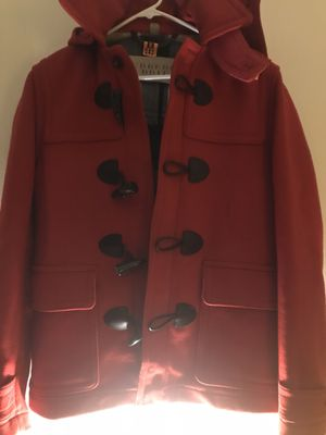 Burberry Grey Wool Coat red size: s for Sale in Quincy, MA
