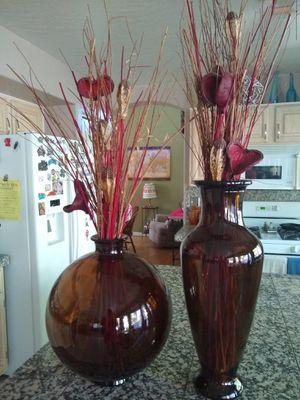 Large Z Gallerie Glass Vase Set for Sale in Mesa, AZ