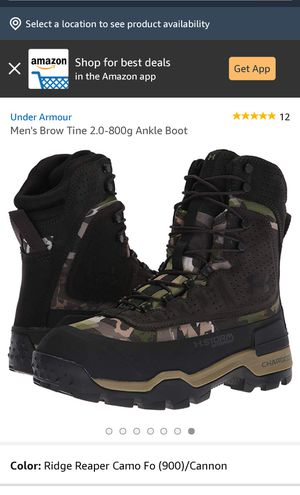 Under Armour boots size 9&8 for Sale in West Hollywood, CA