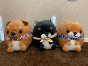 Rolling Mameshiba Brothers set of 3 plushies from Japan crane game (Toreba) for Sale in Bellevue, WA