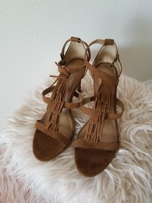 Brown Fringe High Heels, Size 10 for Sale in Corona, CA