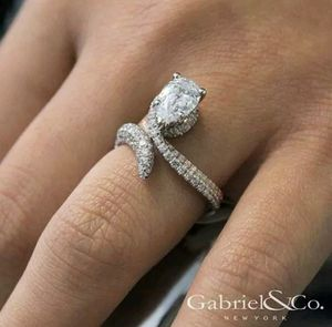Brand new womens 925 sterling silver filled genuine white sapphire engagement ring or promise ring for Sale in New Port Richey, FL