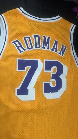 Lakers Dennis Rodman authentic adidas jersey size xl for Sale in Los Angeles, CA