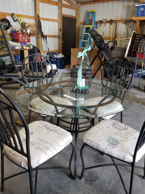 Rod iron table and chairs for Sale in Carmi, IL