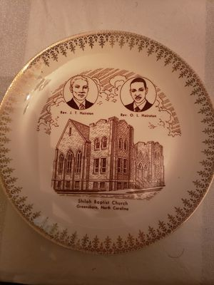 Shiloh Baptist Church Commemorative Plate for Sale in Raleigh, NC