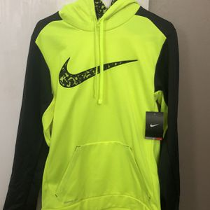 Neon Yellow And Black Camo Nike Therma-Fit Hoodie Size Small for Sale in Hanover Park, IL