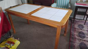 LOVELY PINE W/WHITE CERAMIC TILE TOP DINING TABLE for Sale in Alhambra, CA