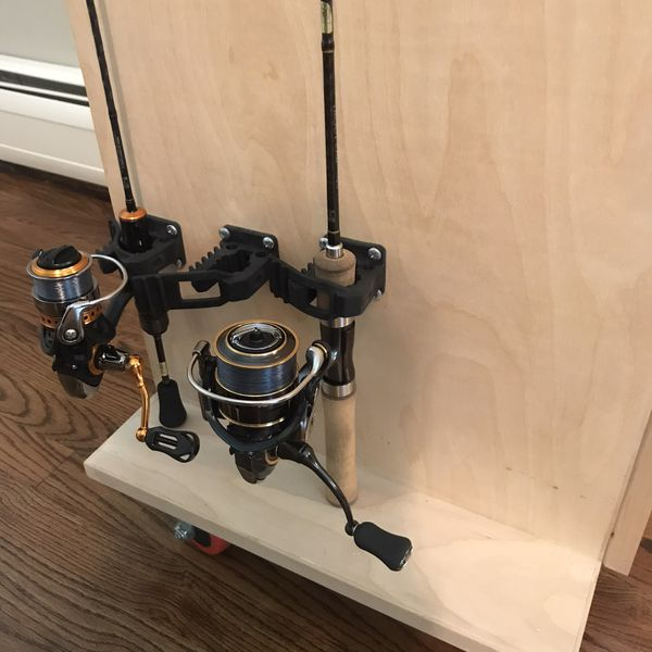 Fishing Rod Rack Tackle Cabinet
