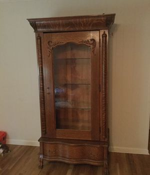 Antique Quartersawn Tiger Oak Armoire 1880's for Sale in Tucker, GA