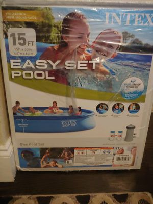 15 ft Intex Easy set Inflatable pool for Sale in Denver, CO