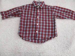 Valentine's Day flannel baby 6-12 mos boy button down collar shirt for Sale in Lake Forest, CA