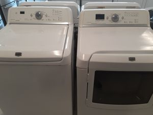 Maytag washer and electric dryer good condition 90 days warranty for Sale in Mount Rainier, MD