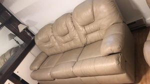 Leather couch set for Sale in Washington, DC