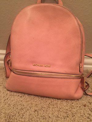 Light Pink Michael Kors Backpack For Sale for Sale in Houston, TX