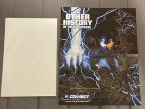 DC Comics THE OTHER HISTORY OF THE DC UNIVERSE Comic Book Cover art poster fold out !!!! for Sale in Plainfield, IL