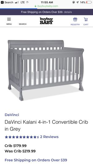 Brand new dream on me 4 in 1 grey crib for Sale in Payson, AZ