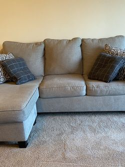 L-shaped Couch With Throw Pillows for Sale in Nashville,  TN