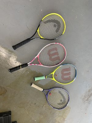 4 tennis racquets for Sale in Chandler, AZ