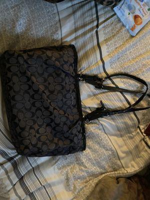 Black coach purse for Sale in Carmichael, CA