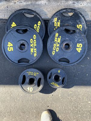 240lb Olympic weight set-golds gym for Sale in Parker, CO