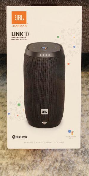 JBL LINK 10 Bluetooth Speaker (Brand New!) for Sale in Germanton, NC