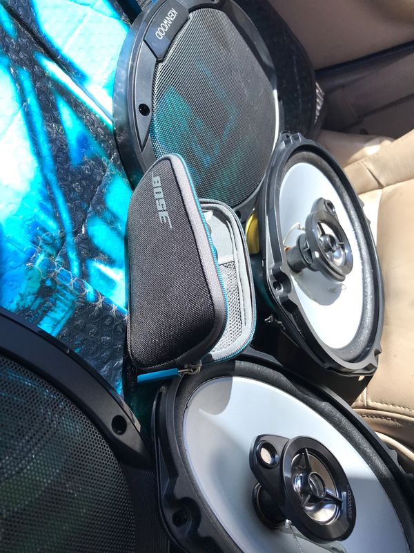 Brand new Kenwood speakers and Bose headphones$60.....$40 for the Kenwoods n $20 for Bose Headset