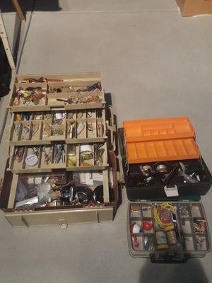 Fishing gear ,reels, hooks, lures, lot for Sale in Burbank, CA