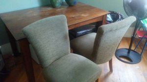 Solid wood w/2 chairs for Sale in Salt Lake City, UT