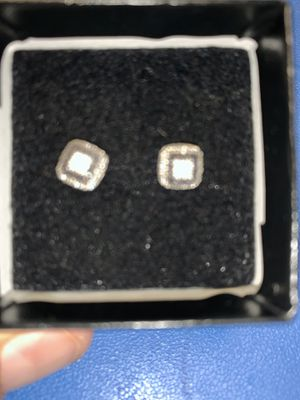Diamond white gold earrings for Sale in Garland, TX
