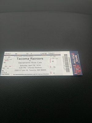 Tacoma Rainiers ticket for Sale in Tacoma, WA