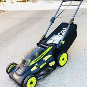 Ryobi 20 in. 40-Volt Brushless Lithium-Ion Cordless Smart TREK Self-Propelled Walk Behind Mower w/6.0 Ah Battery and Charger (BRAND NEW) for Sale in Arlington, TX