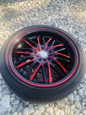 """18"""" rims and tires ( full set of 4)fits all cars for Sale in UPPER ARLNGTN, OH"""